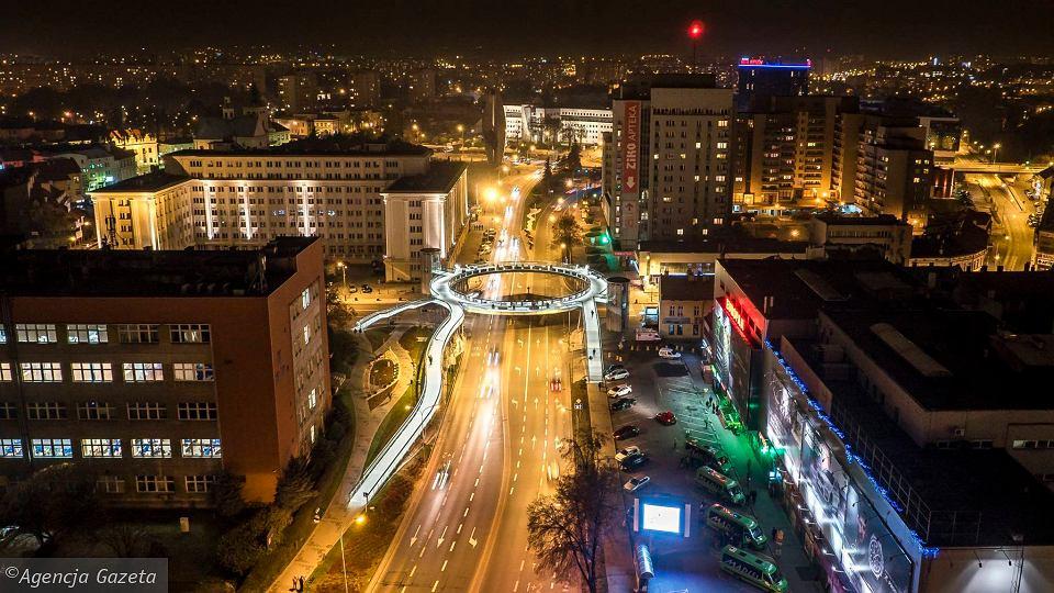 W Rzeszowie innowacje widać gołym okiem. Na zdjęciu: pierwsza w Polsce okrągła kładka dla pieszych