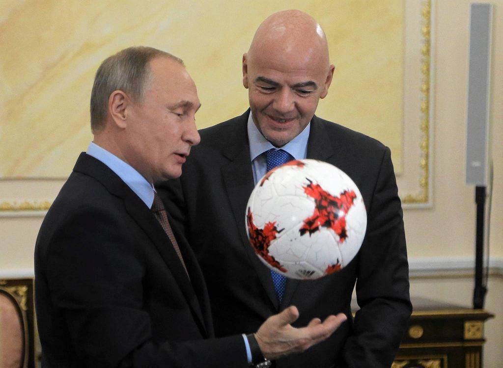 Gianni Infantino i Władimir Putin - prezydenci FIFA i Rosji