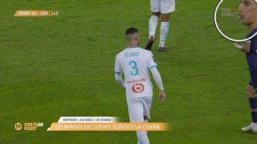 Angel Di Maria opluł rywala w meczu PSG - Olympique Marsylia