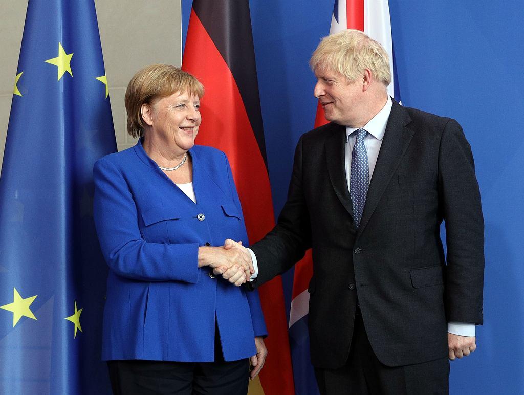 Angela Merkel i Boris Johnson