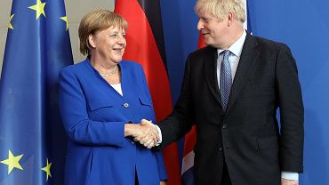 Angela Merkel i Boris Johnson