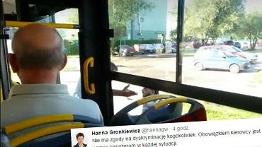 Kadr z filmu i tweet Hanny Gronkiewicz-Waltz