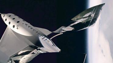 Kosmiczny samolot Virgin Galactic pierwszy raz w kosmosie