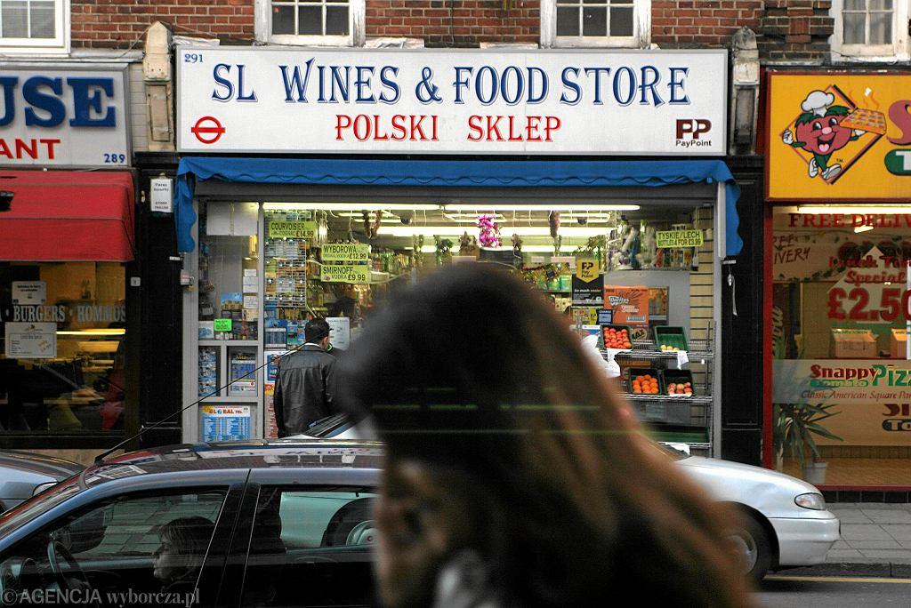 Polski sklep w Slough pod Londynem.