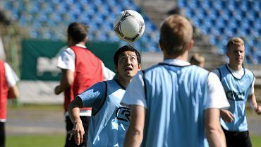 Pomocnik Yasuhiro Kato podczas treningu w Olsztynie