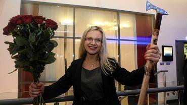 Małgorzata Wassermann w sztabie PiS -  radość po ogłoszeniu wyników wyborów w 2015 r.