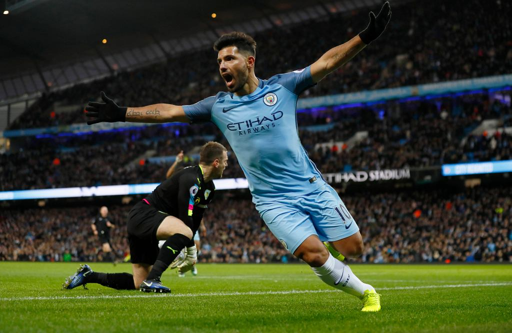 Manchester City - Burnley. Sergio Aguero