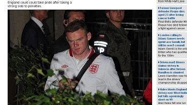 Wayne Rooney wraca do Krakowa po porażce z Włochami