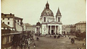 Kościół św. Aleksandra na placu Trzech Krzyży, ok. 1895.
