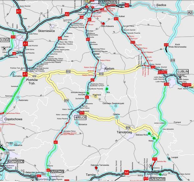 Stan budowy drogi S7