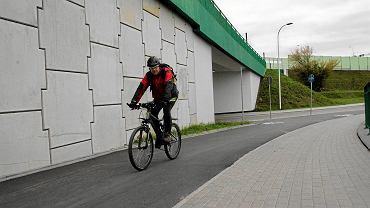 Ścieżka rowerowa przy moście Północnym
