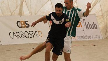 Daniel Baran i Jan Koller podczas turnieju w Pradze