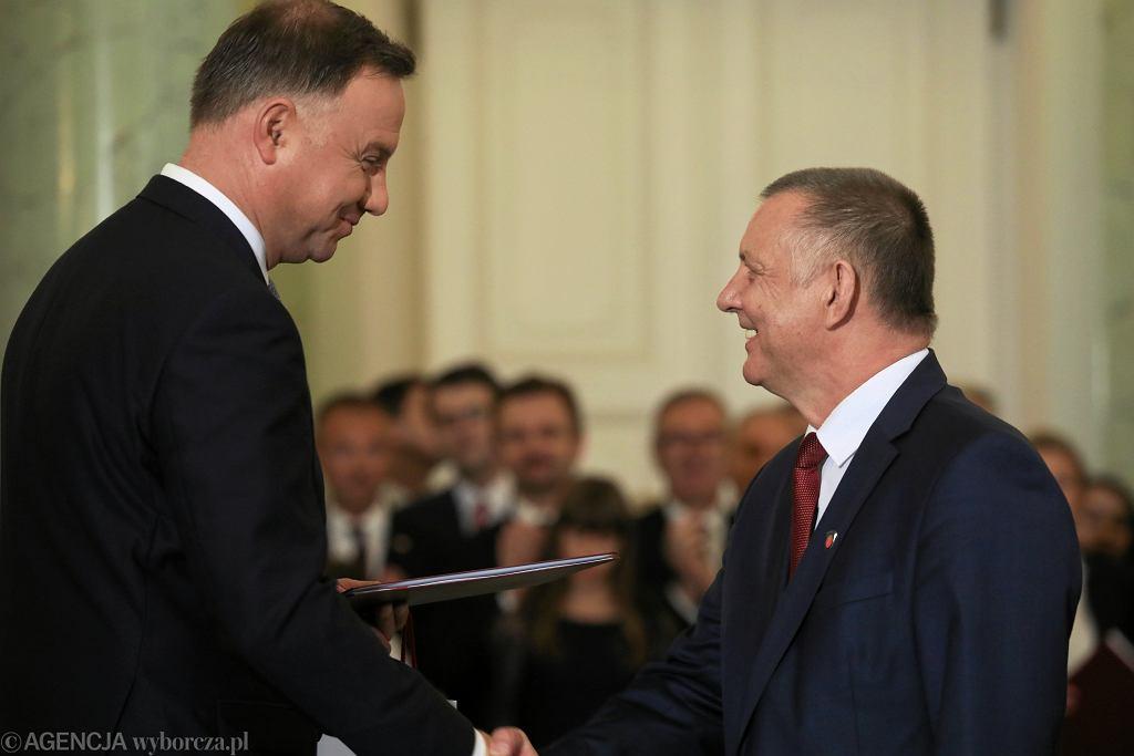 Prezydent RP Andrzej Duda i Marian Banaś