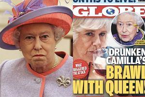 Camill rzuciła kieliszkiem w królową Elżbietę?