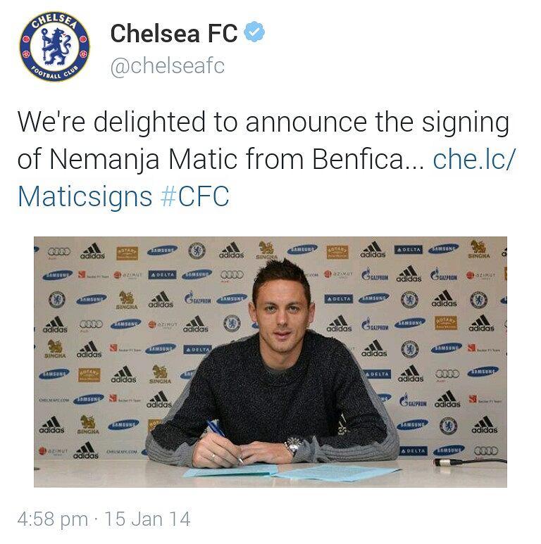 Namannja Matic podpisał kontrakt z Chelsea