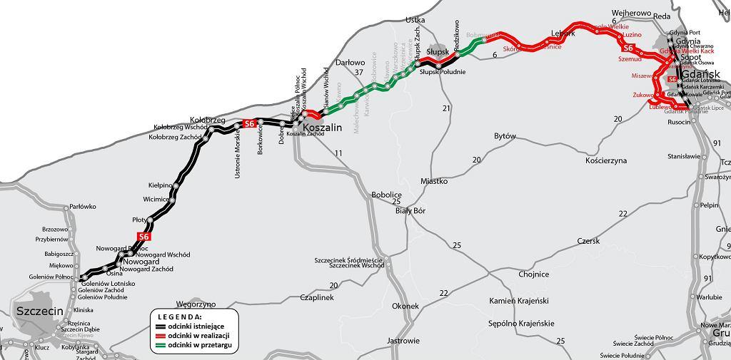 Trasa S6 Szczecin-Gdańsk
