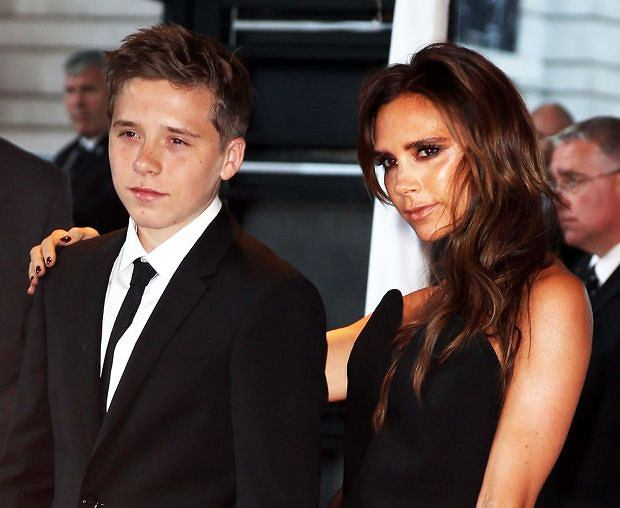 6/4/2013  -  London,  ,  United Kingdom:  Victoria Beckham and son Brooklyn arriving at the Glamour Woman of the Year Awards in London, Tuesday, 4th June 2013 Picture by Stephen Lock / i-Images / Polaris)