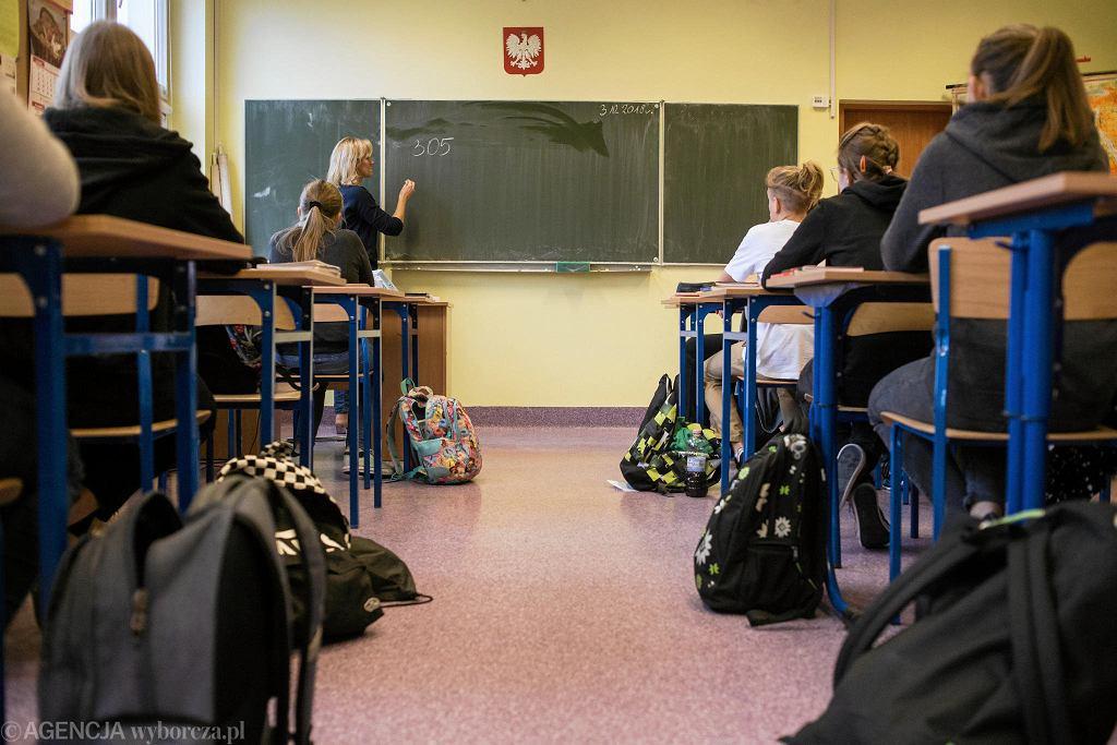 Klasa w szkole (zdjęcie ilustracyjne)