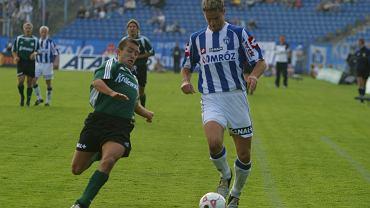Paweł Wojtala w barwach Lecha Poznań podczas meczu z Legią Warszawa (2004)
