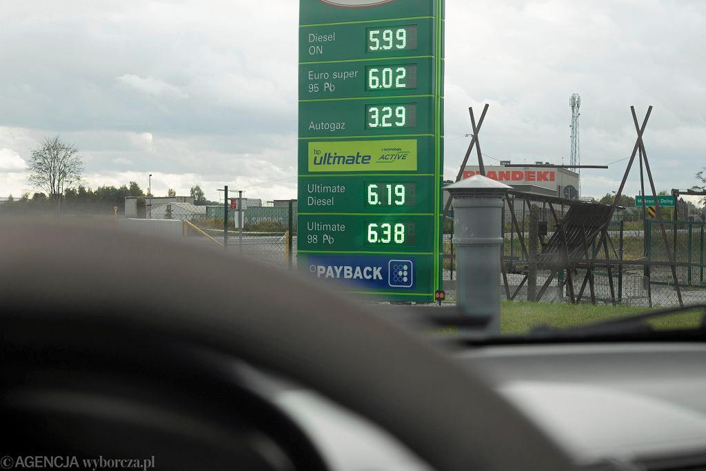Rekordowe ceny paliw (zdjęcie z 12 października 2021)