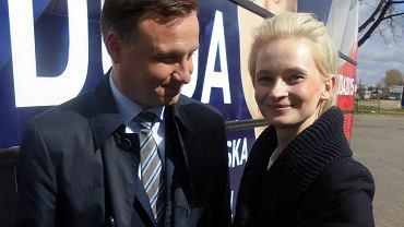 Izabela Pek w towarzystwie Andrzeja Dudy podczas kampanii prezydenckiej