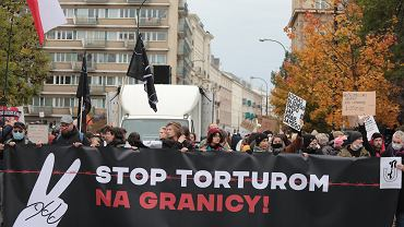 Demonstracja 'Stop torturom na granicy'