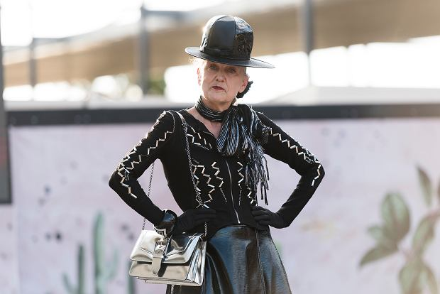 Suzanne Suzette podczas Melbourne Fashion Festival, marzec 2020