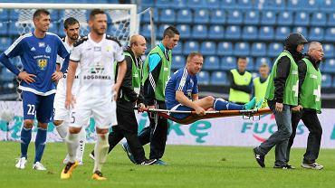 Ruch Chorzów - Górnik Łęczna 2:1. Rafał Grodzicki nie dotrwał do końca meczu