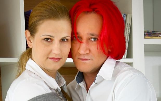 N/z Michal Wisniewski z Dominika Tajner -  Nagranie programu Pytanie na Sniadanie ,   Warszawa , Polska . 2012-06-27 fot. Krzysztof Kuczyk/FORUM.
