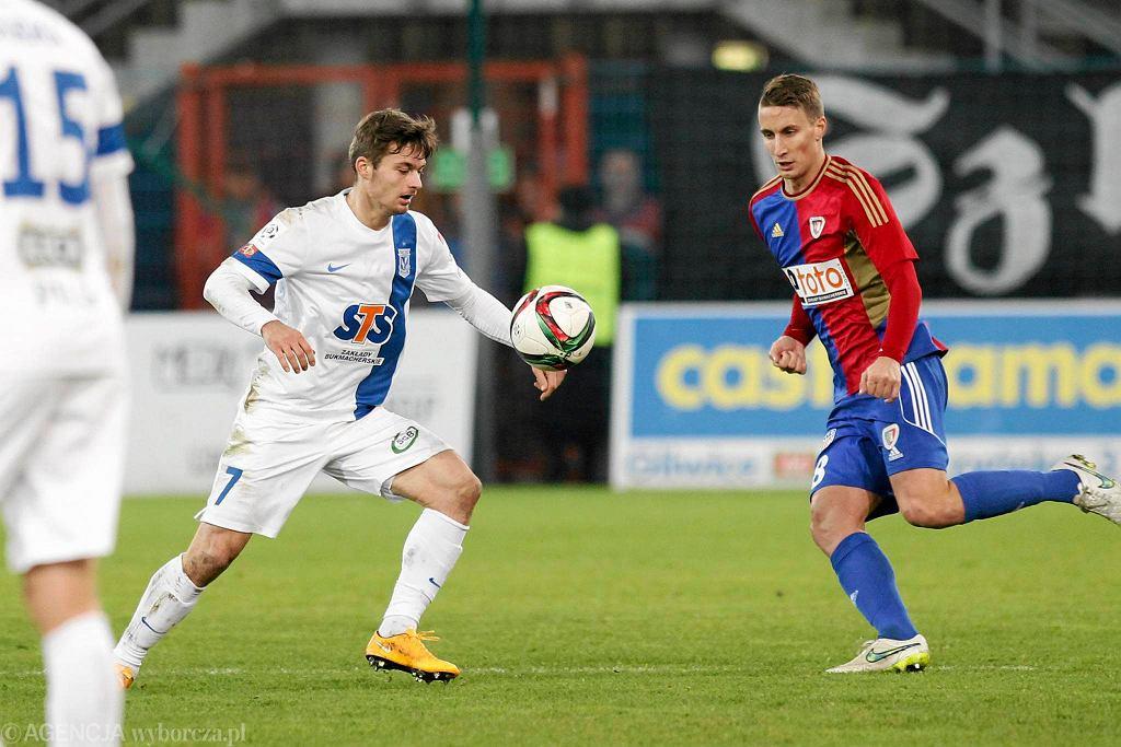 Piast Gliwice - Lech Poznań 2:0. Karol Linetty, Uros Korun