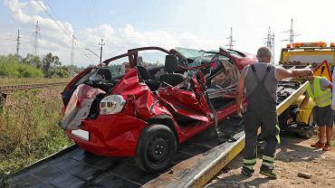 Wypadek na przejeździe kolejowym w Szaflarach, 23 sierpnia 2018 roku.