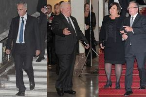 Zygmunt Solorz-Żak, Lech Wałęsa, Anna Komorowska, Bronisław Komorowski.