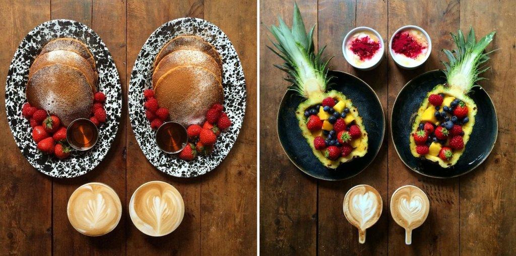 Michael Zee codziennie przygotowuje i fotografuje symetryczne śniadania dla siebie i swojego partnera.