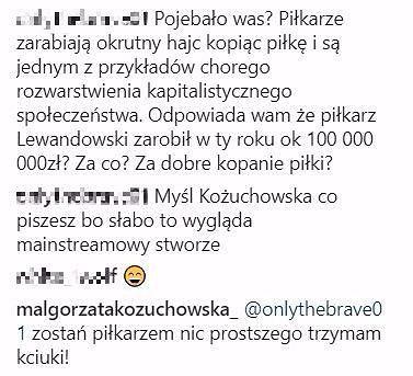 Screen z Instagrama Małgorzaty Kożuchowskiej