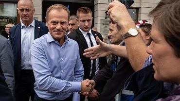 Przewodniczący Rady Europejskiej Donald Tusk podczas marszu 'Polska w Europie', 18 maja 2019.
