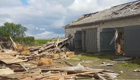 Trąba powietrzna na Lubelszczyźnie. 120 zniszczonych budynków