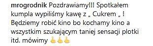 Wpis Dawida Ogrodnika