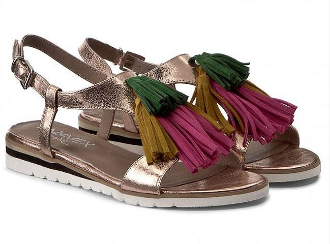 Buty letnie damskie - sandały wykonane ze skóry naturalnej. Piękny model na lato!