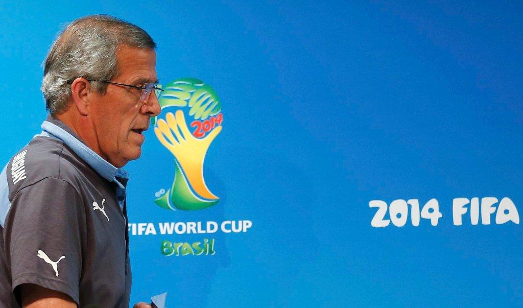 Oscar Tabarez na konferencji prasowej