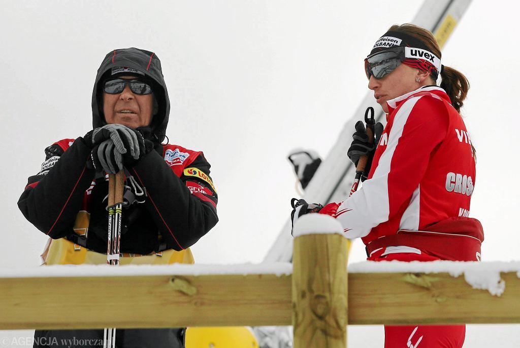 Aleksander Wierietielny i Justyna Kowalczyk