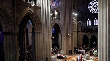 01.09.2018 pogrzeb senatora Johna McCaina. Katedra Narodowa  w Waszyngtonie.