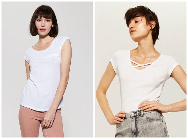 Dobrej jakości biały t shirt jako podstawa garderoby gdzie
