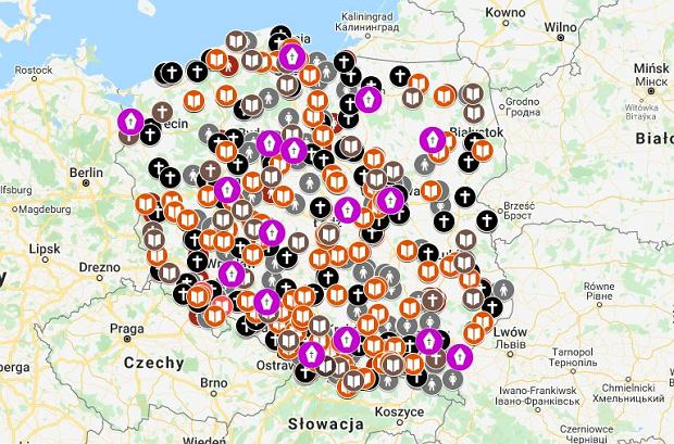 Mapa kościelnej pedofilii