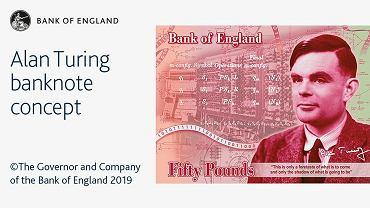 50-funtowy banknot z wizerunkiem Alana Turinga