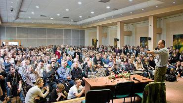 Spotkanie z Pawłem Kukizem w Białymstoku podczas kampanii prezydenckiej