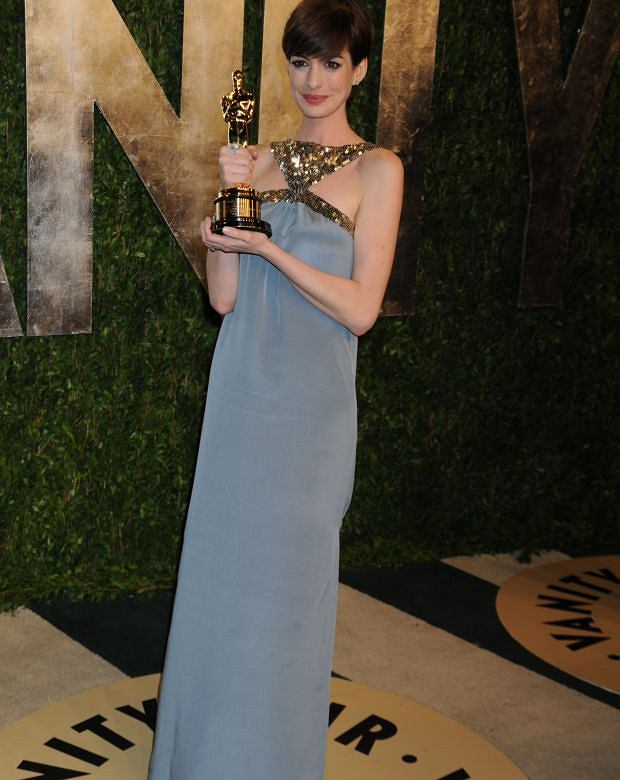 SMG_Anne Hathaway_NY1_LA_Vanity Fair Oscar_022413_13.JPG WEST HOLLYWOOD, CA - FEBRUARY 24: Anne Hathawayattends the 2013 Vanity Fair Oscar party at Sunset Tower on February 24, 2013 in West Hollywood, California. (Photo By Storms Media Group) People: Anne Hathaway Transmission Ref: NY1_LA Must call if interested Michael Storms Storms Media Group Inc. 305-632-3400 - Cell MikeStorm@aol.com