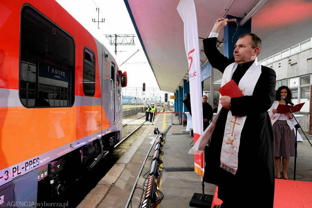 Uroczysty odbior w Olsztynie nowego pociągu PESA Link
