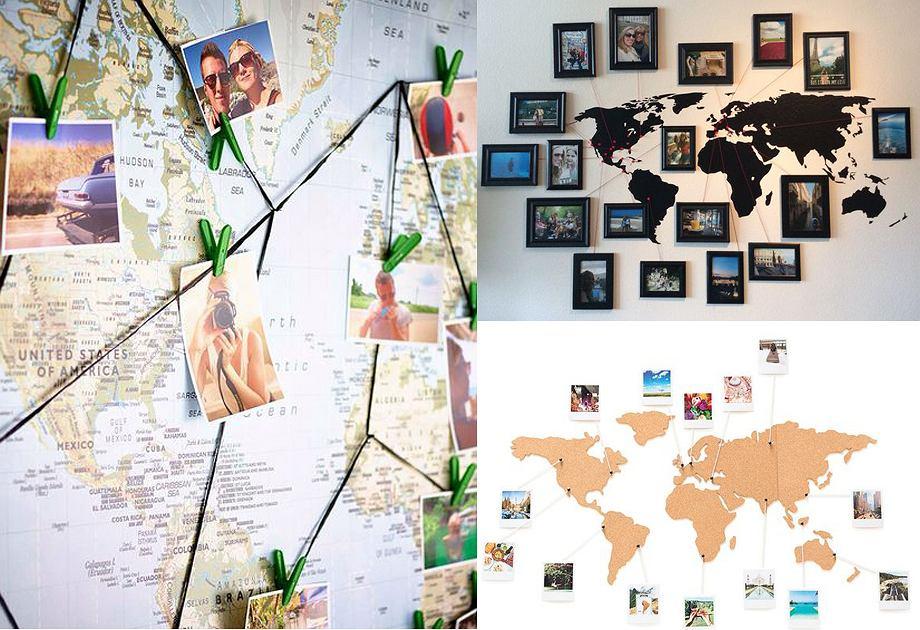Mapa świata - pomysłowa dekoracja