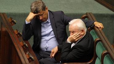 Janusz Palikot i Leszek Miller po pierwszych rozmowach na temat koalicji Twój Ruch - SLD w wyborach samorządowych