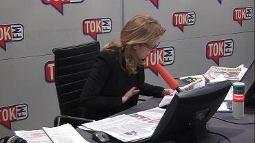 Dominika Wielowieyska nie mogła powstrzymać śmiechu, gdy zacytowała fragment tekstu prawicowego publicysty.
